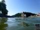 Inn mündet in die Donau