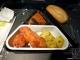 Menü im Flugzeug